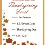Free Thanksgiving Invitations Templates – Happy Easter   Free Printable Thanksgiving Invitation Templates