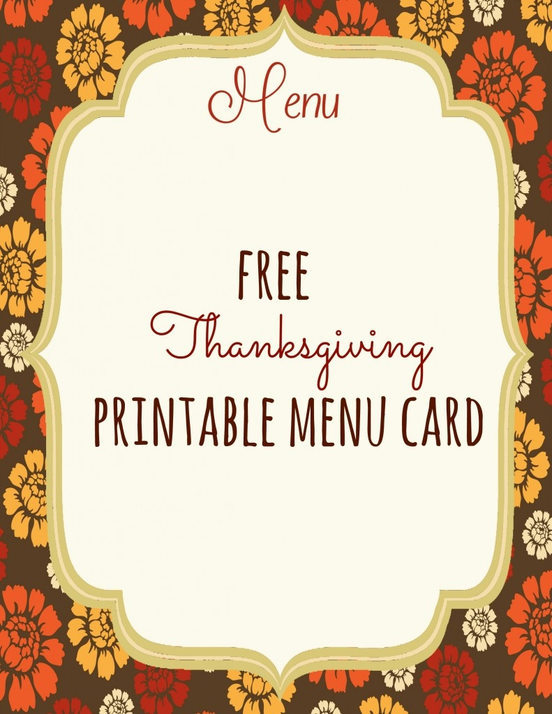 Free Thanksgiving Menu Templates – Happy Easter & Thanksgiving 2018 - Free Printable Thanksgiving Menu Template
