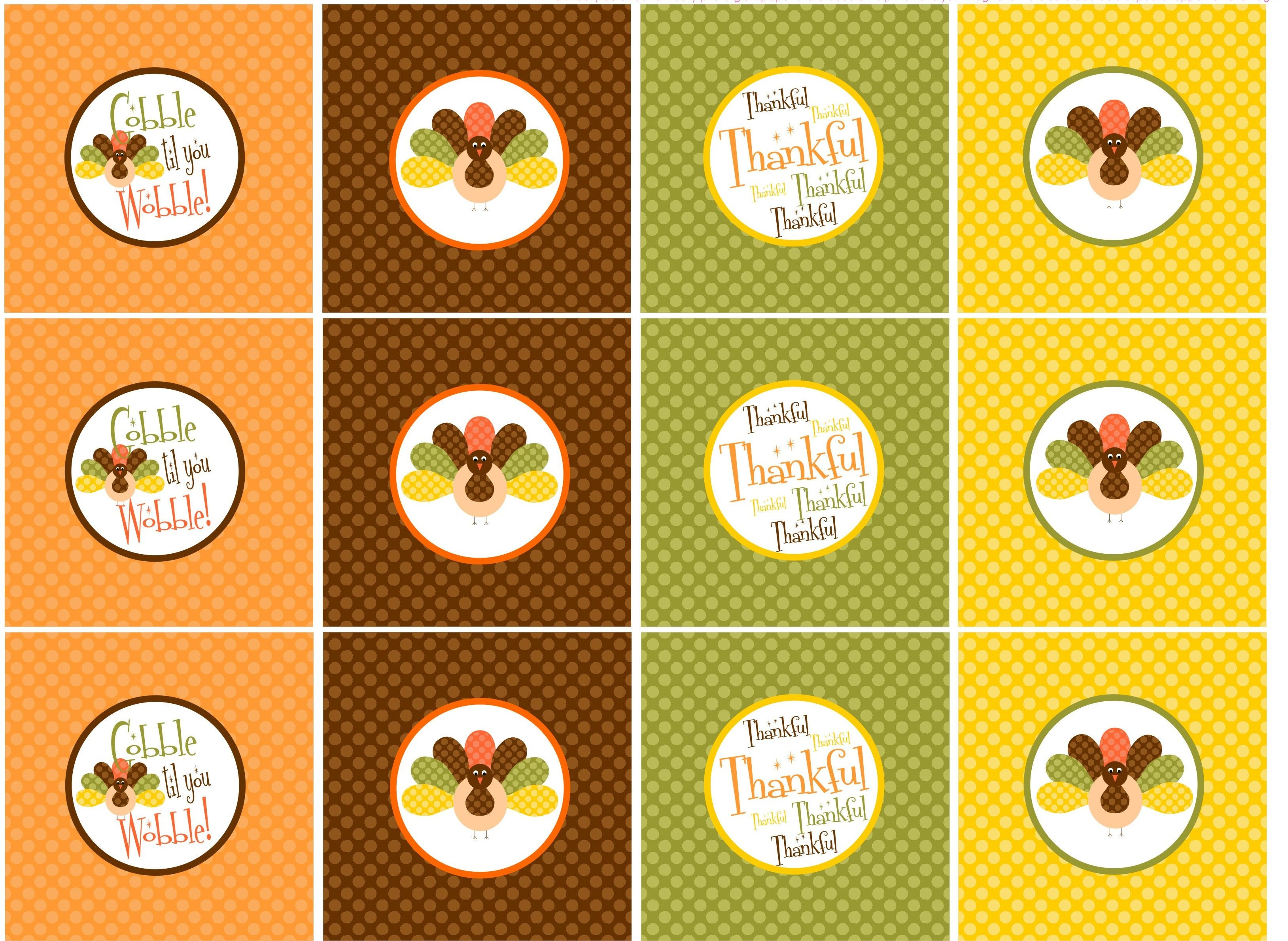 Free Thanksgiving Printables! | Let The Awesomeness Begin… | Holiday - Thanksgiving Cupcake Toppers Printable Free