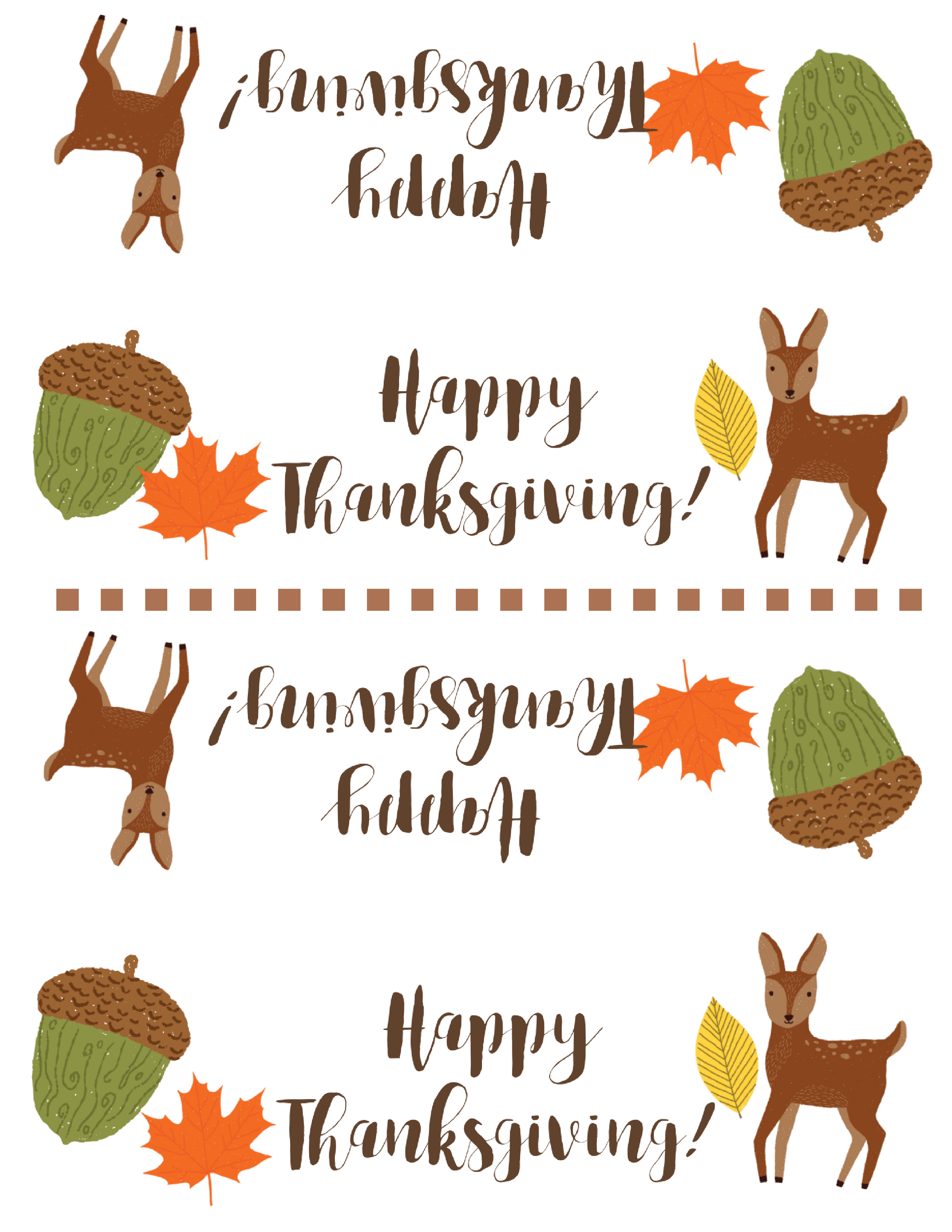 Free Thanksgiving Treat Bag Topper Printable   Simply Happy Mama - Free Printable Thanksgiving Treat Bag Toppers