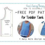 Free Toddler Tank Top Pattern   How To Assemble The Printable Pdf   Free Printable Sewing Patterns Pdf