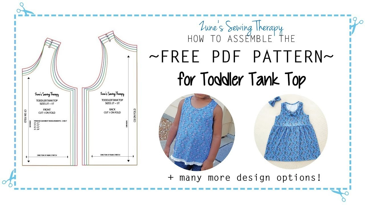 Free Toddler Tank Top Pattern - How To Assemble The Printable Pdf - Free Printable Sewing Patterns Pdf