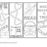 Free Valentine's Day Bookmarks To Color | Coloring Pages | Printable   Free Printable Valentine Bookmarks