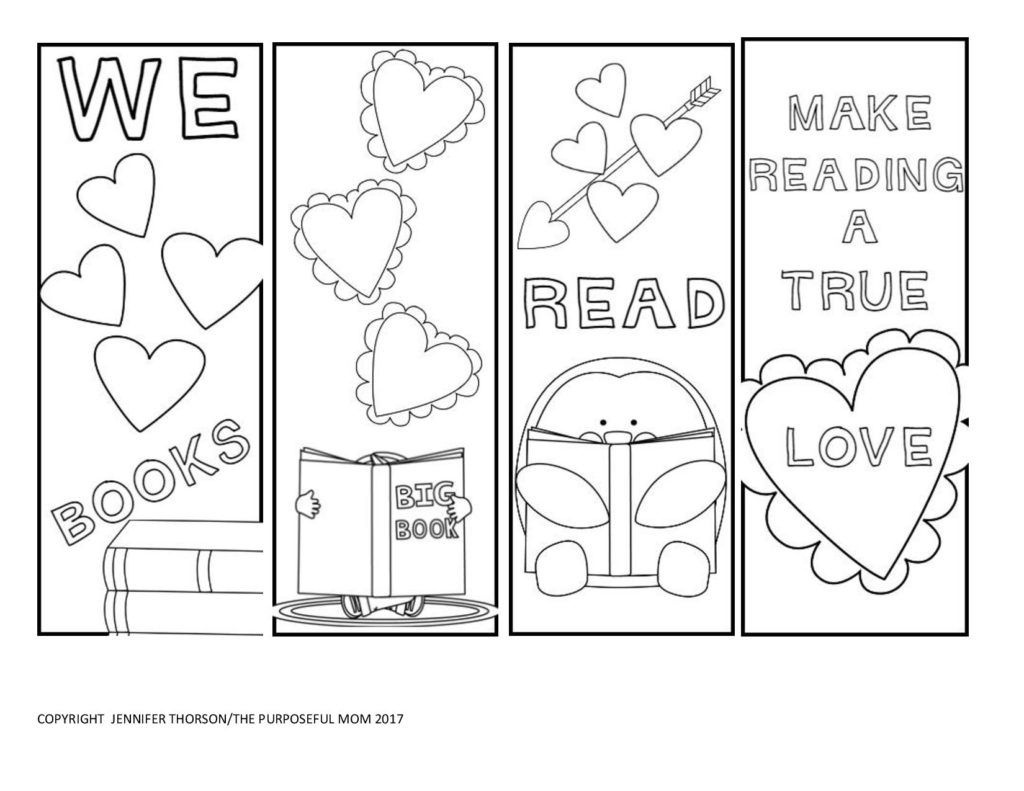 Free Valentine's Day Bookmarks To Color | Coloring Pages | Printable - Free Printable Valentine Bookmarks