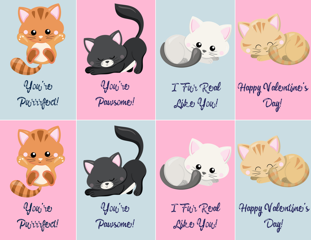 Free Valentine's Day Printables! | Budget Earth - Free Printable Cat Valentine Cards