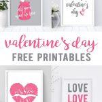 Free Valentine's Day Printables | Little Blonde Mom Blog   Free Printable Valentine's Day Decorations