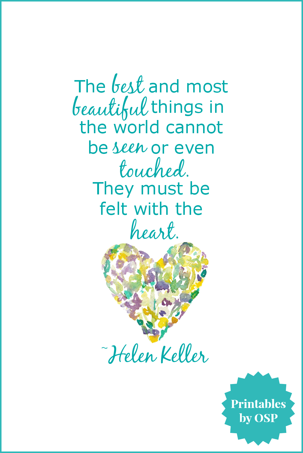 Free Valentine's Day Printables: Love & Hearts | Crafty | Heart - Free Printable Pictures Of Helen Keller