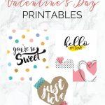Free Valentine's Day Printables   The Organized Dream   Free Printable Valentine's Day Decorations