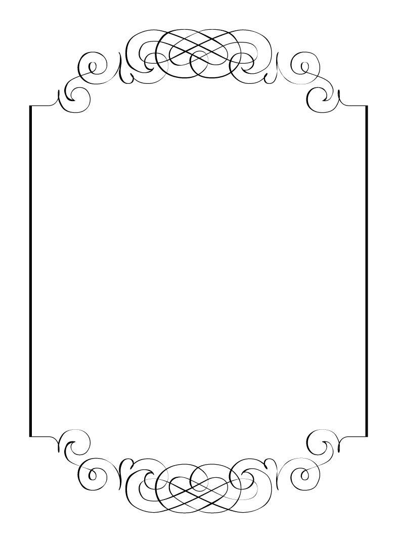 Free Vintage Clip Art Images: Calligraphic Frames And Borders - Free Printable Wedding Scrolls