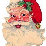 Free Vintage Clip Art   Santa, Santa, Santa!   The Graphics Fairy   Free Printable Vintage Christmas Clip Art