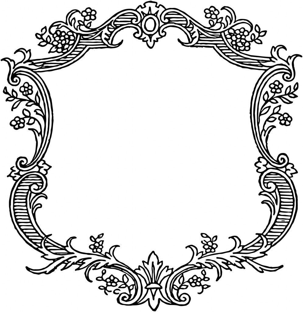 Free Vintage Floral Scroll Border Frame   Graphics & Printables - Free Printable Wedding Scrolls