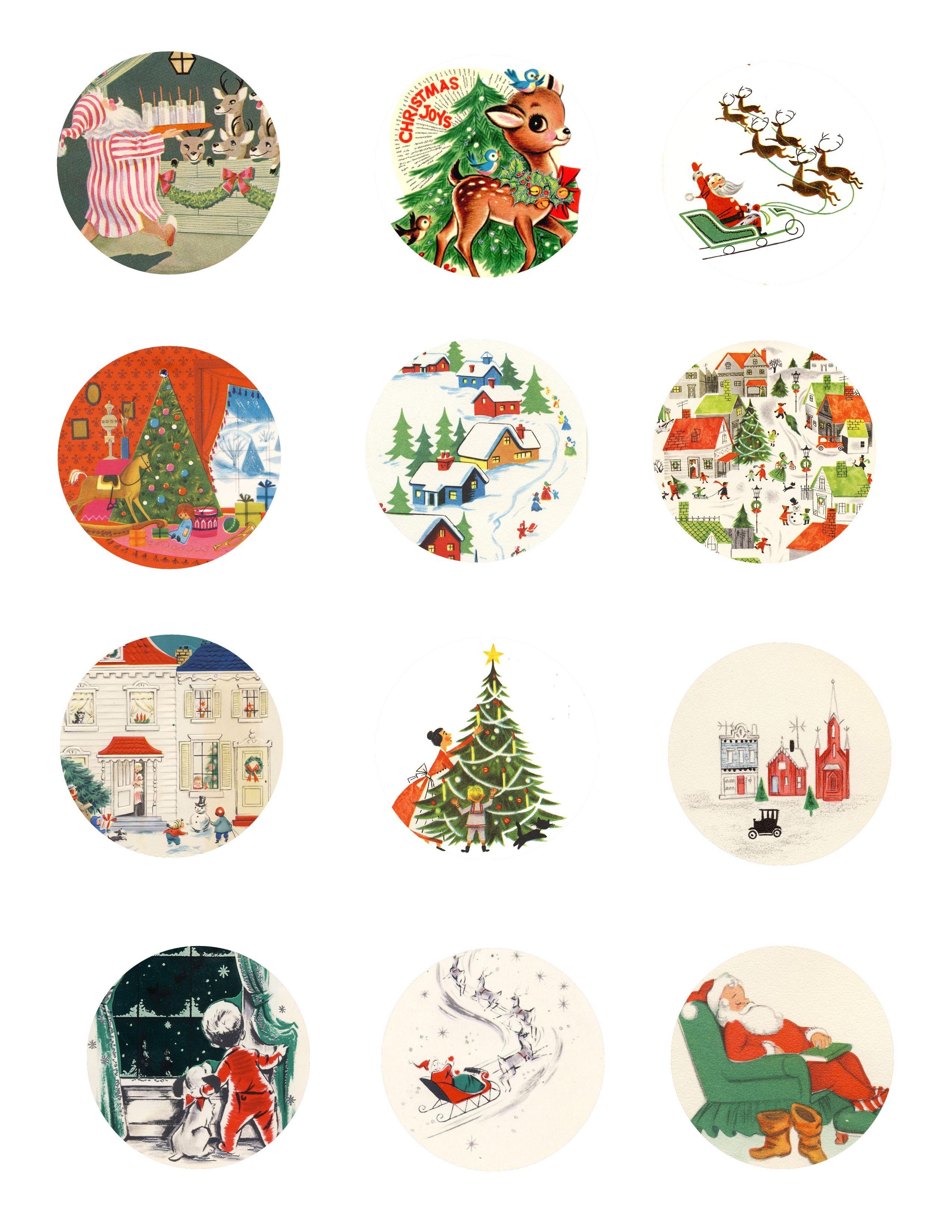 Free Vintage Tags    Tags Page 1 791X1024 Free Printable Vintage - Free Printable Vintage Christmas Pictures