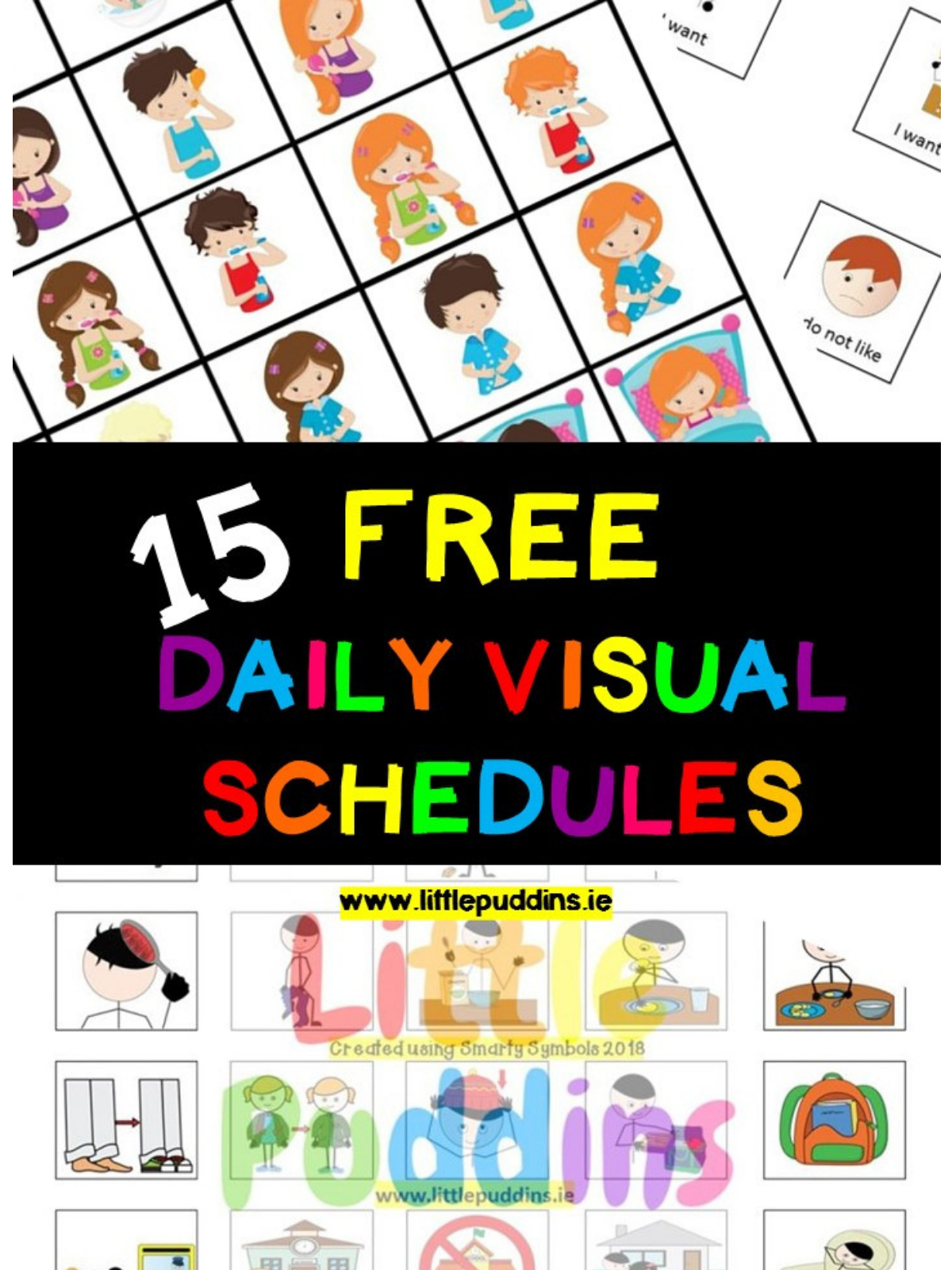 Free Visual Schedules – Little Puddins Free Printables - Free Printable Visual Schedule For Preschool
