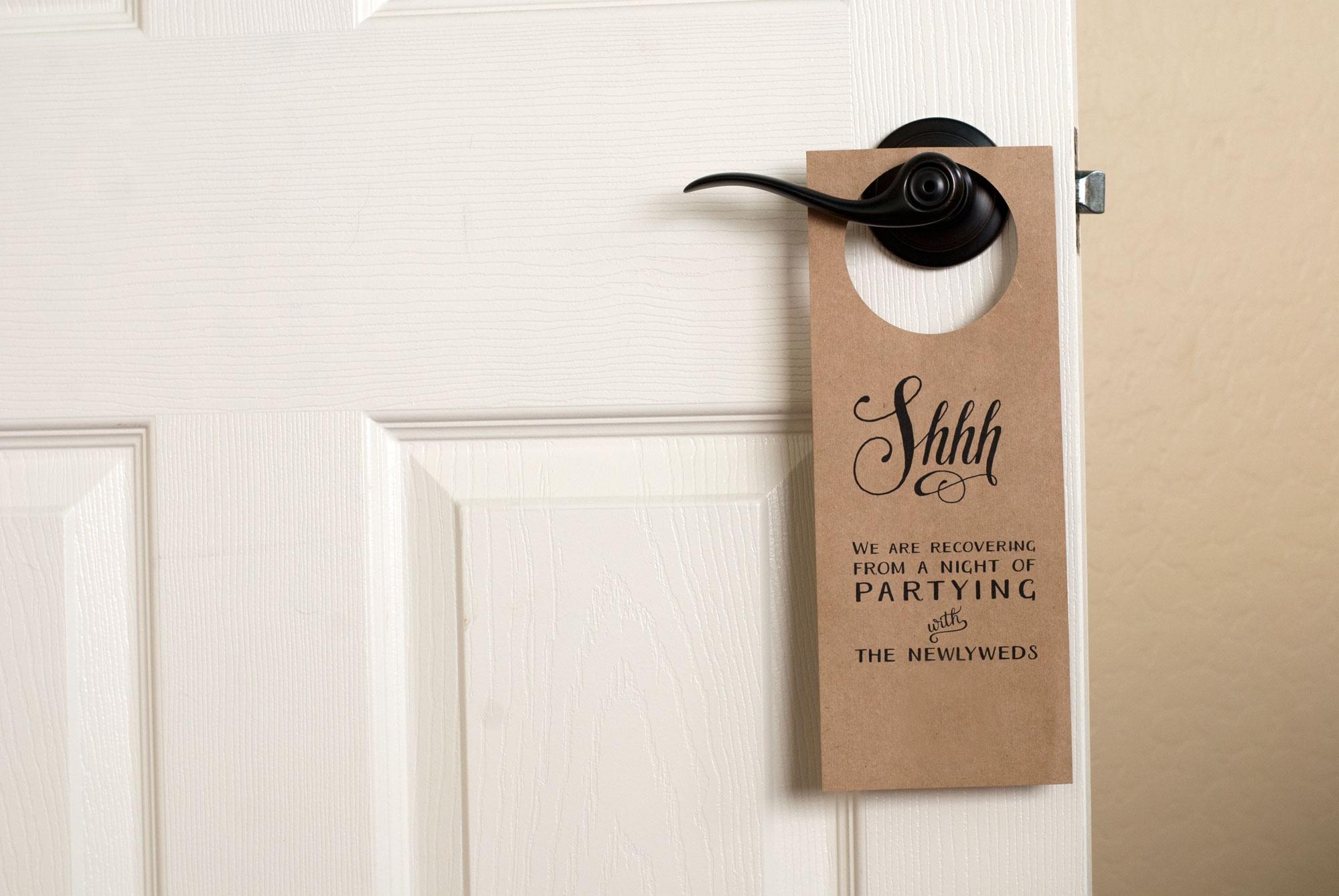 Free Wedding Door Hanger Printable   Handmade And Homegrown - Free Printable Door Hanger Template