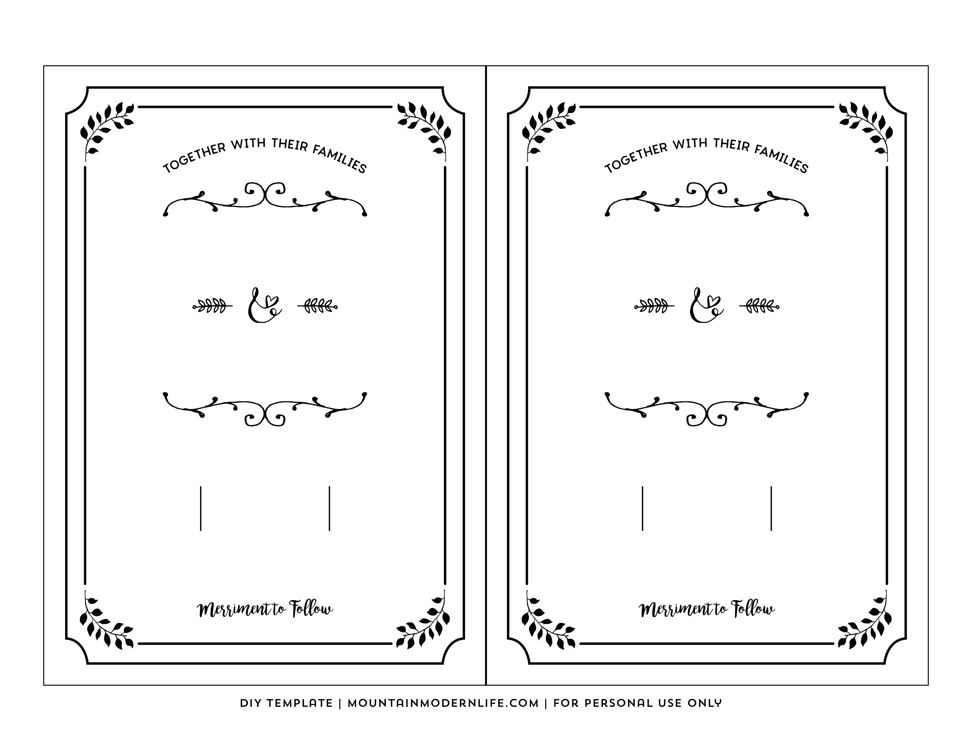 Free Wedding Invitation Printable Templates Free Printable Wedding - Free Printable Wedding Invitations