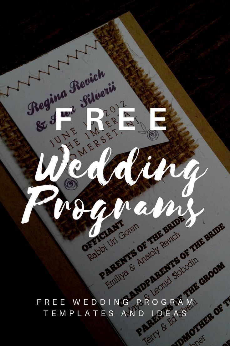 Free Wedding Program Templates | Wedding | Wedding Program Template - Free Printable Fan Wedding Programs