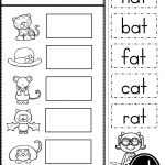 Free Word Family At Practice Printables And Activities   Preschool   Free Printable Word Family Worksheets For Kindergarten