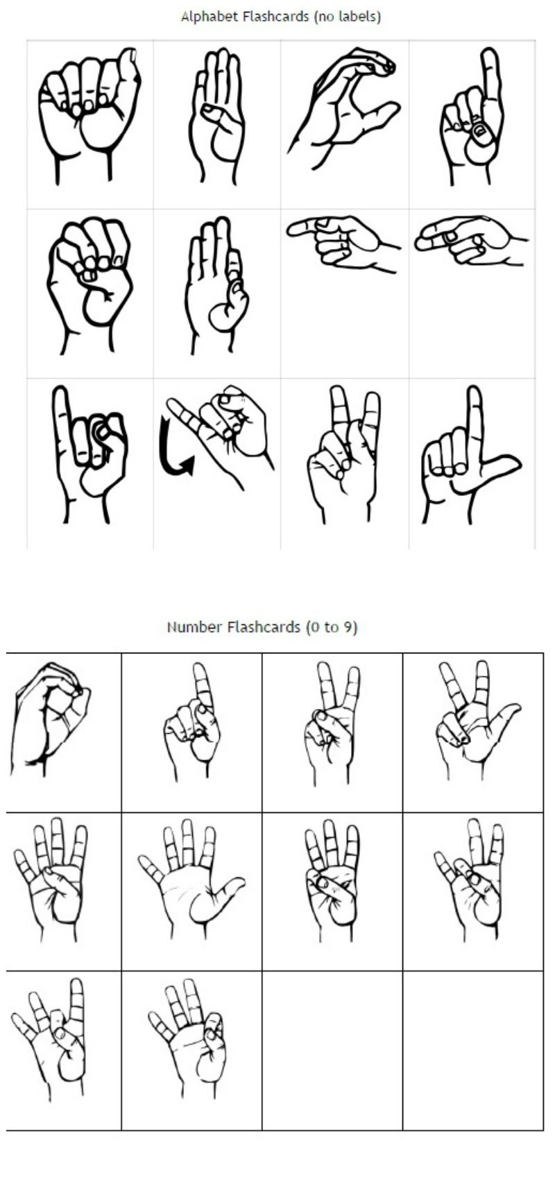 Freebie Friday: Free Printable Asl Alphabet Flashcards Pack | Best - Sign Language Flash Cards Free Printable