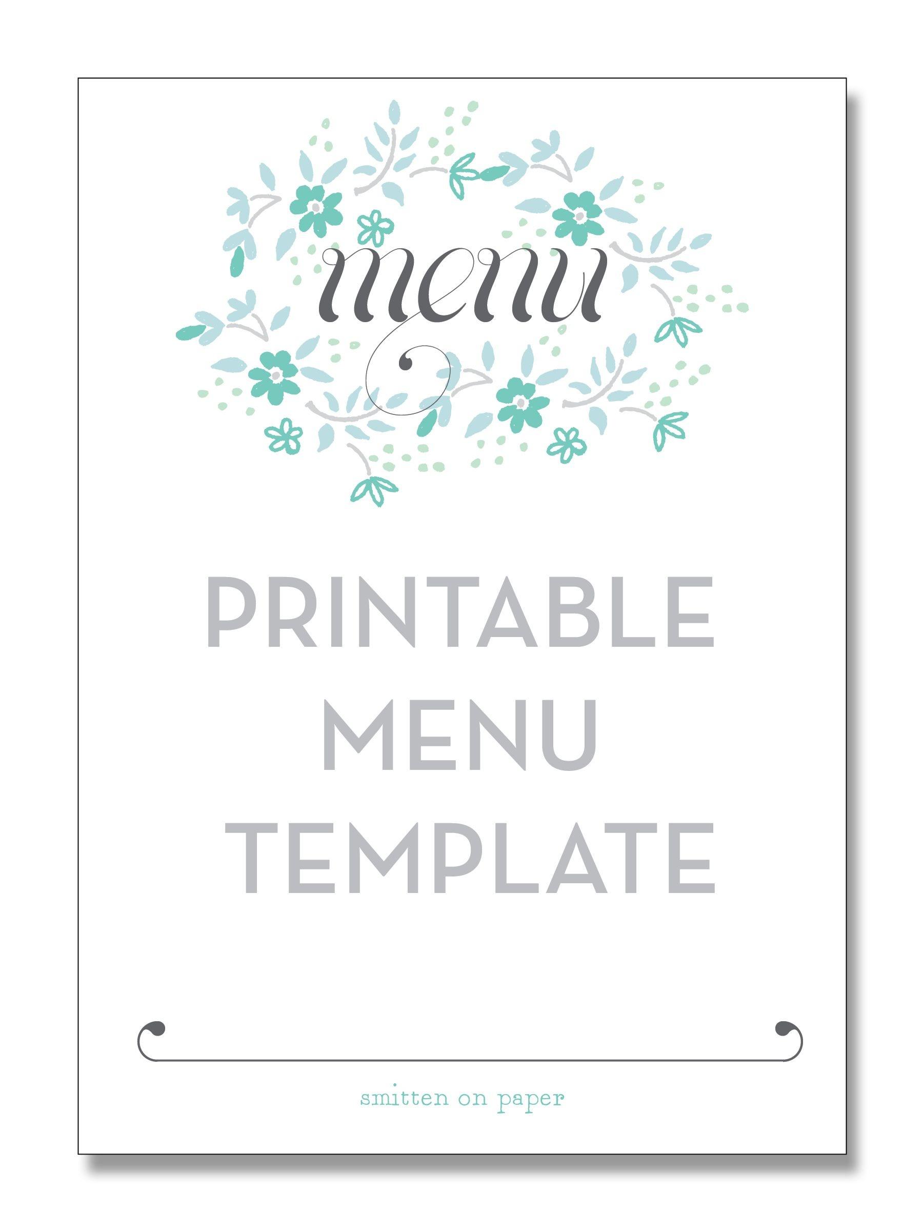 Freebie Friday: Printable Menu   Party Time!   Printable Menu, Menu - Free Printable Christmas Dinner Menu Template