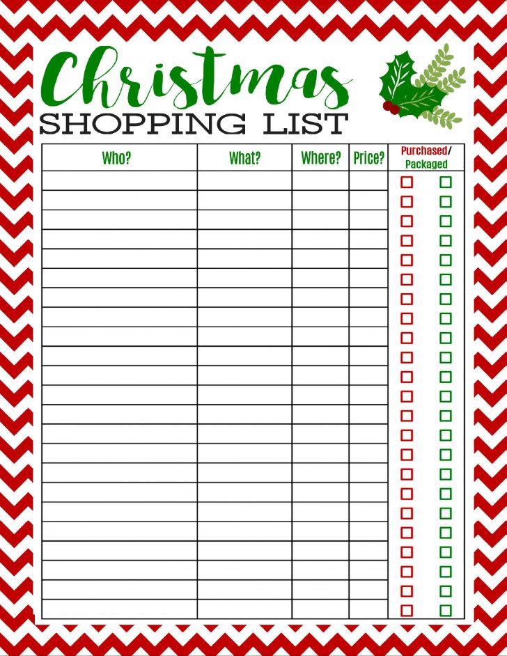 Free Printable Christmas List