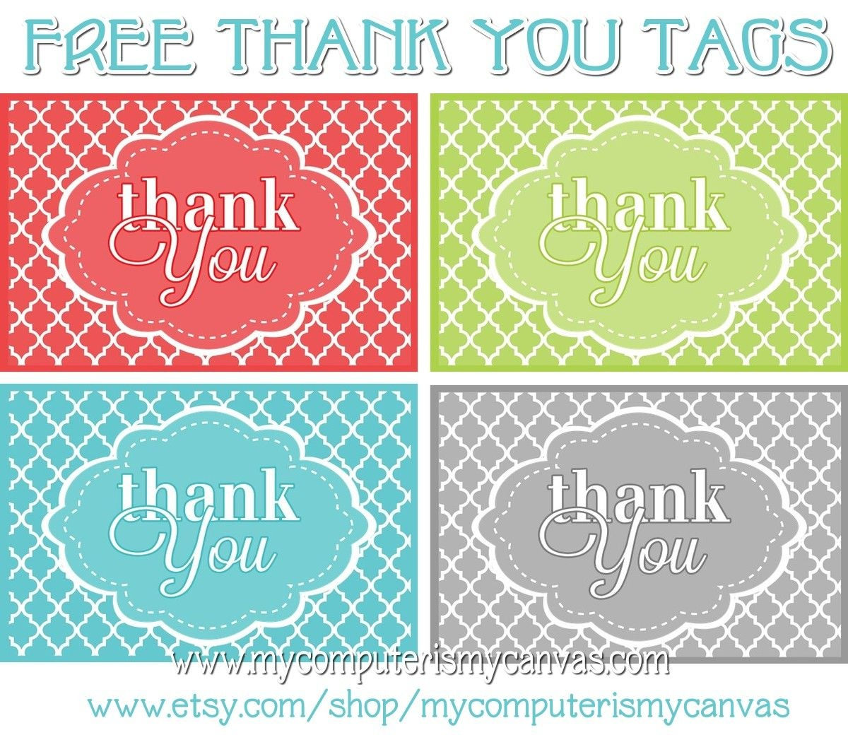 Freebie} Printable Thank You Tags | Primary | Thank You Tags, Thank - Free Printable Thank You Tags Template