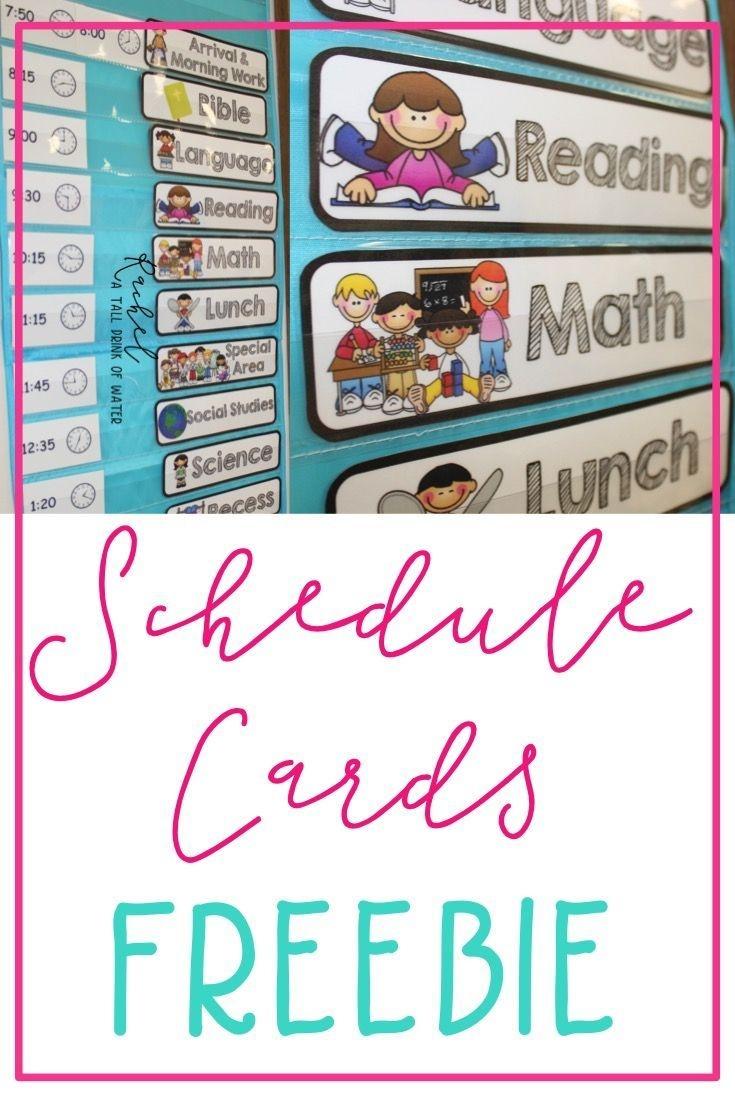 Freebie Schedule Cards | Classroom (When I Go Back :) | Preschool - Free Printable Schedule Cards