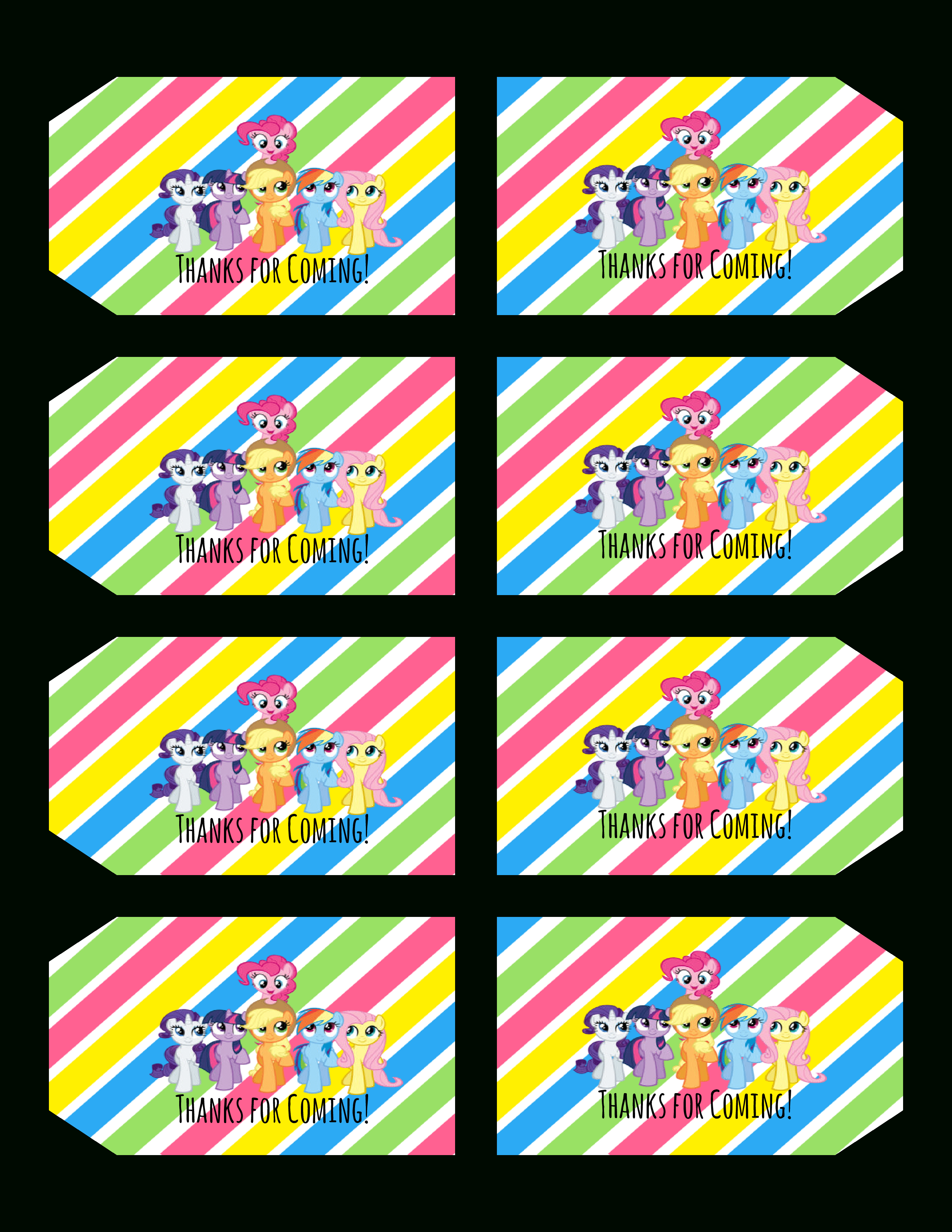 Free+My+Little+Pony+Printables | My Little Pony Birthday In 2019 - Free Printable My Little Pony Cupcake Toppers