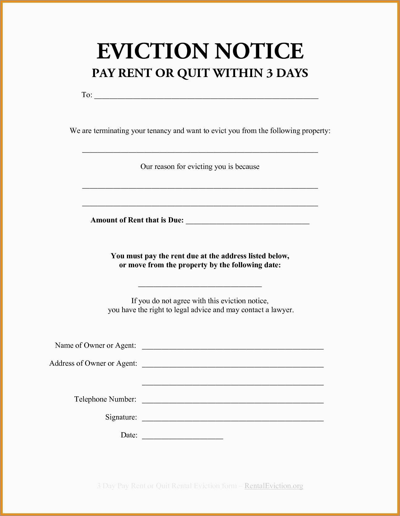 Fresh Free Printable 30 Day Eviction Notice Template | Best Of Template - Free Printable Blank Eviction Notice