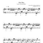 Für Eliseludwig Van Beethoven Piano Sheet Music | Advanced Level   Free Printable Piano Sheet Music Fur Elise