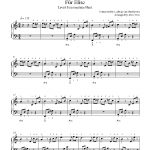 Für Eliseludwig Van Beethoven Piano Sheet Music | Intermediate Level   Free Printable Piano Sheet Music Fur Elise