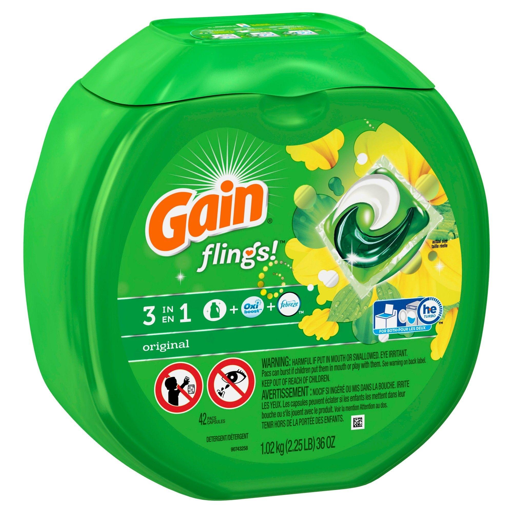 Gain Flings! Laundry Detergent Pacs Original - 42Ct In 2019   What I - Free Printable Gain Laundry Detergent Coupons