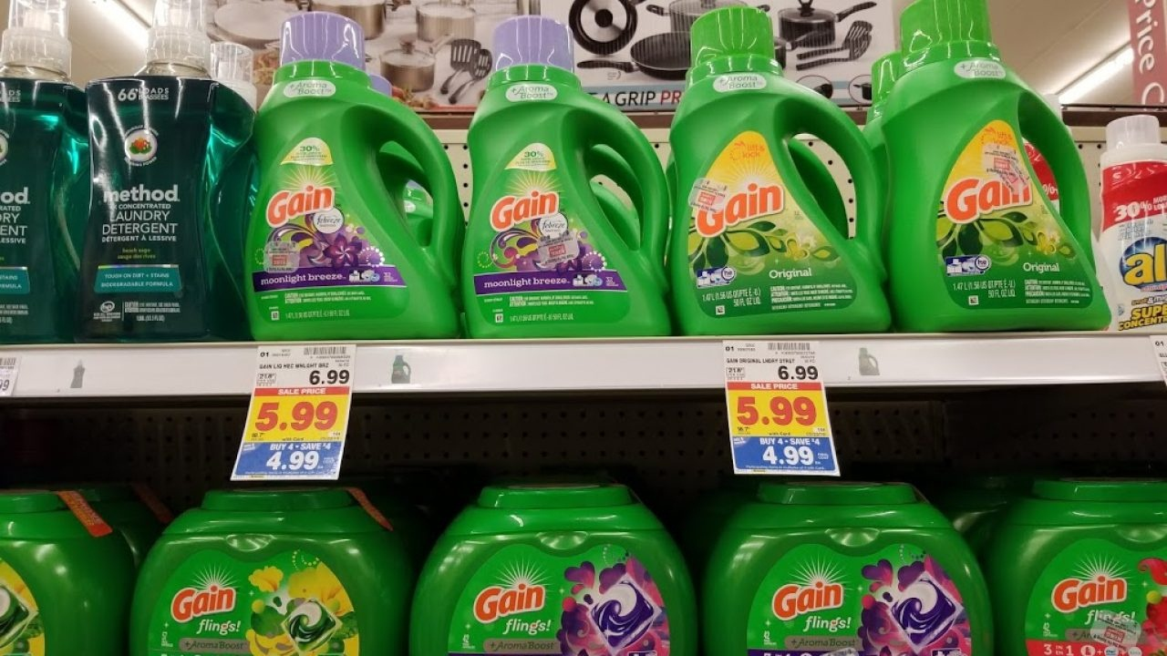 Gain Laundry Detergent For $2.99 With A Printable Coupon At King - Free Printable Gain Laundry Detergent Coupons