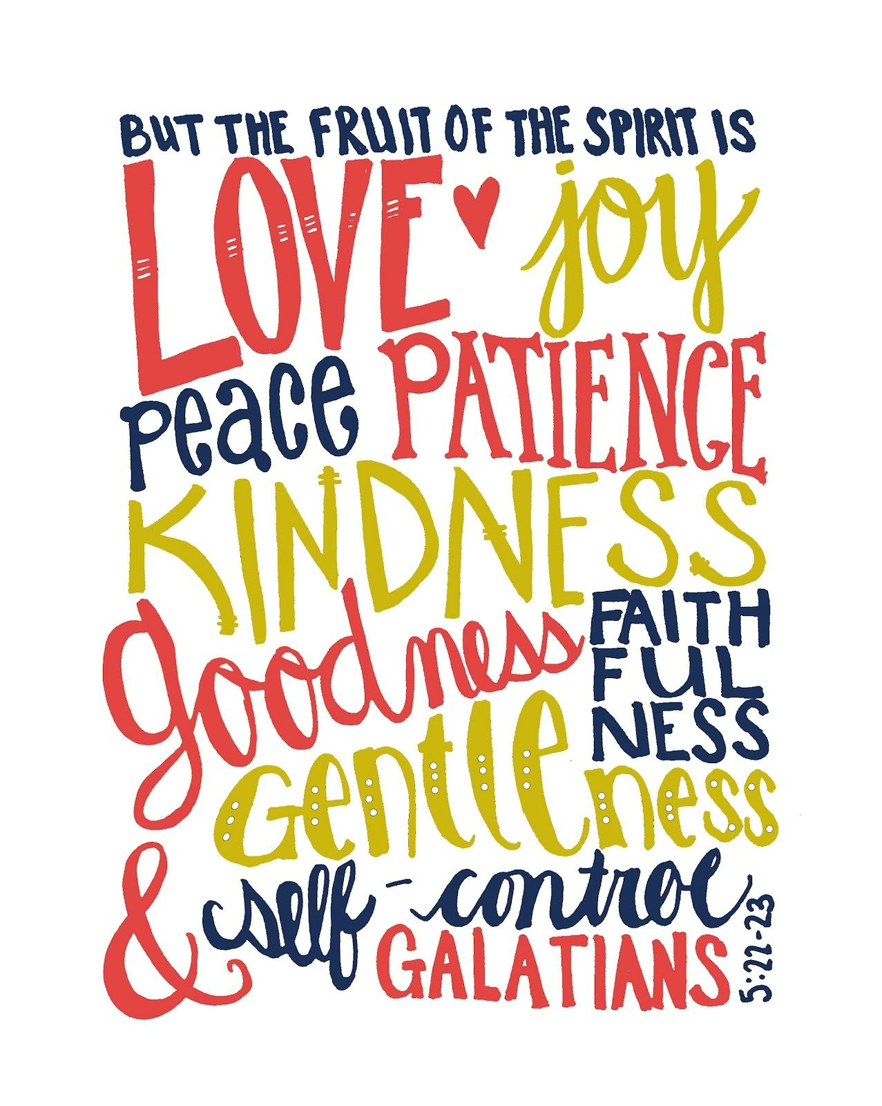 Galatians 5:22-23 #verse Beautifully Rooted: The Fruit Of The Spirit - Fruit Of The Spirit Free Printable