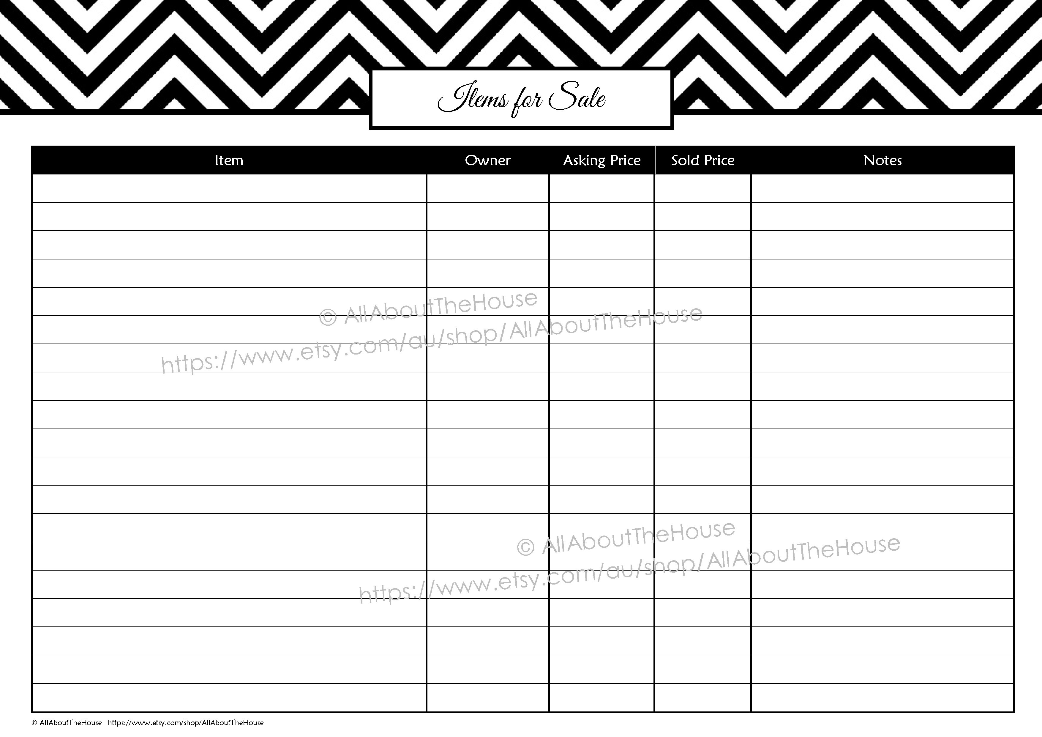 Garage Sale Planner | Allaboutthehouse Printables - Garage Sale Price Tags Free Printable