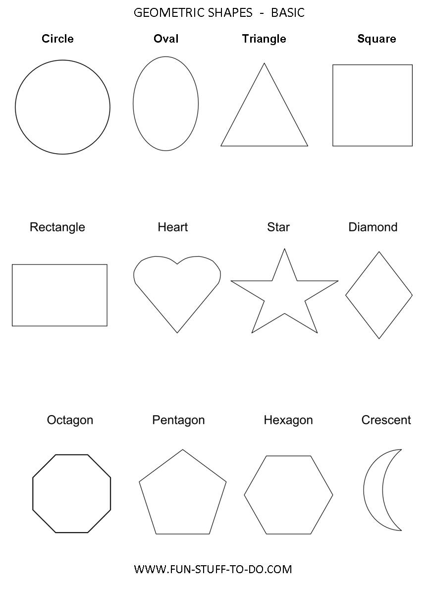 Geometric Shapes Worksheets   Free To Print - Free Printable Shapes Templates