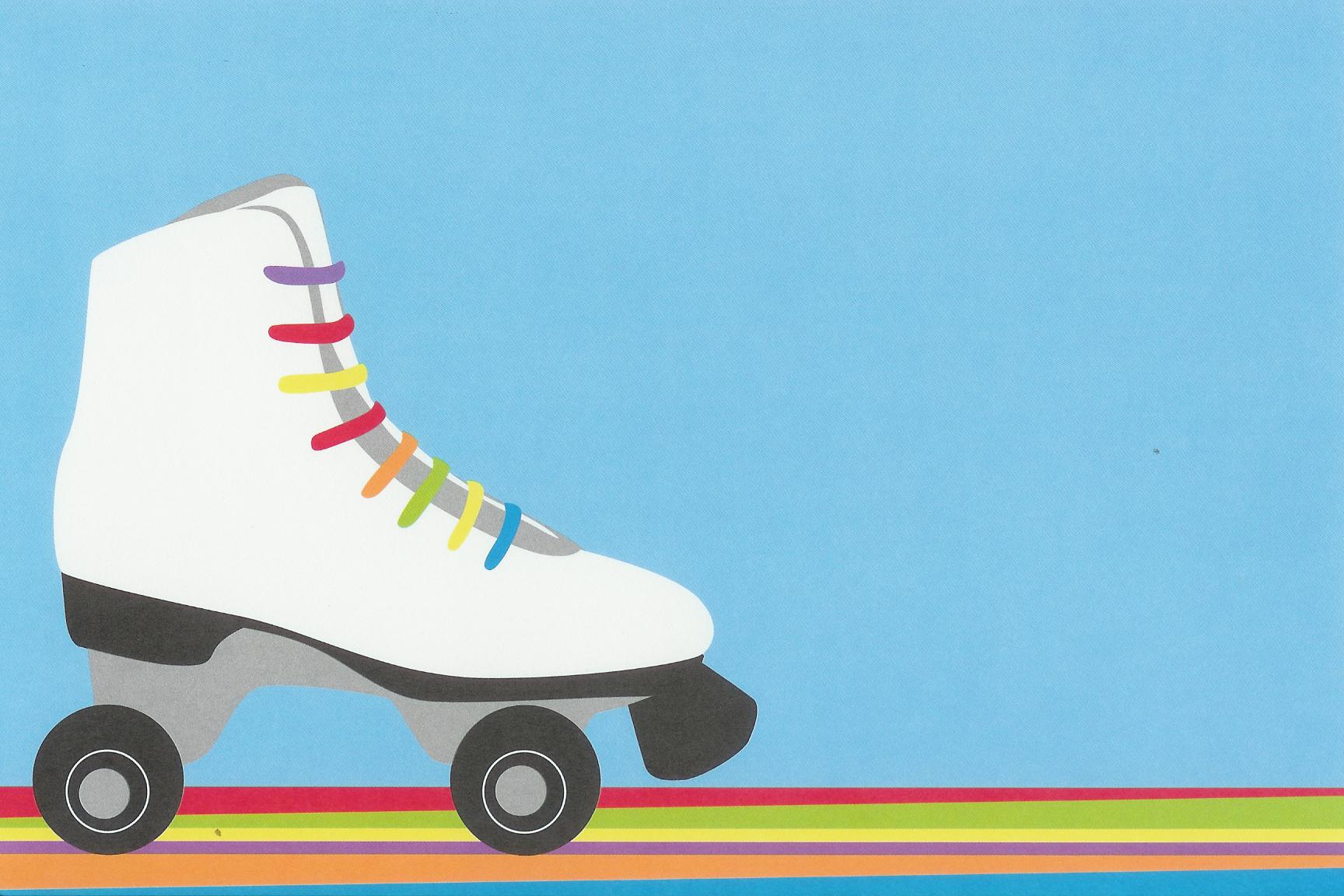 Get Free Printable Roller Skating Invitation Template   Free Baby - Free Printable Roller Skate Template