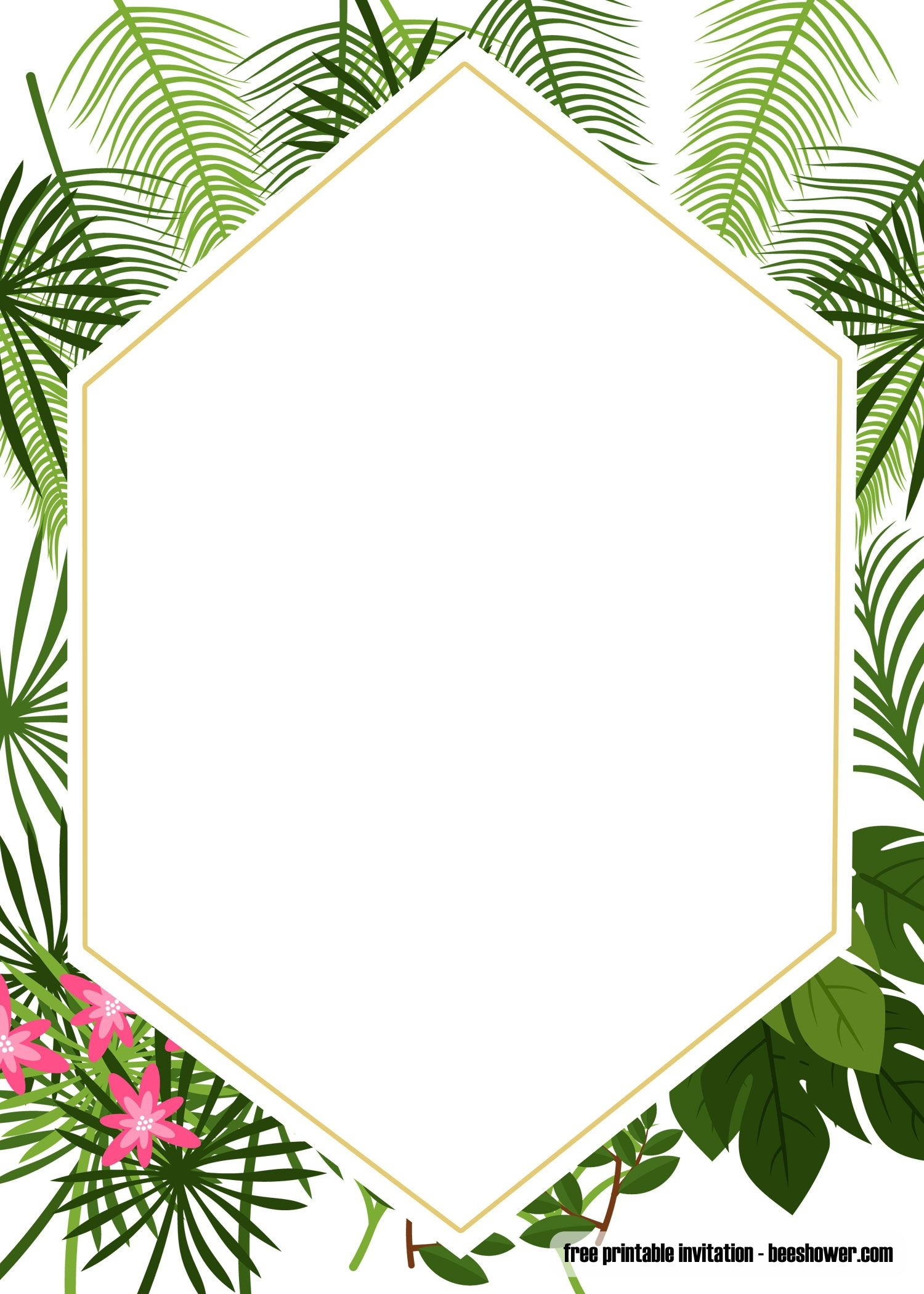 Get Free Printable Tropical Baby Shower Invitation Template - Free Printable Luau Baby Shower Invitations