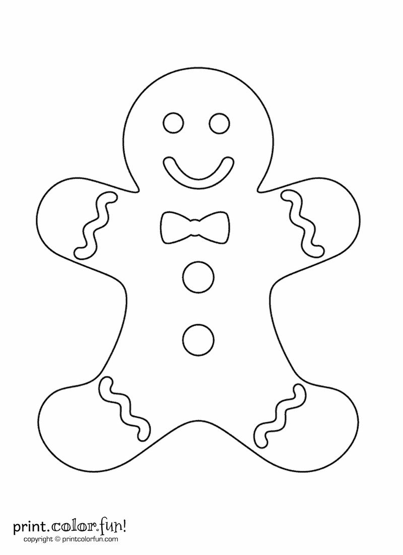 Gingerbread Man | Print. Color. Fun! Free Printables, Coloring Pages - Gingerbread Template Free Printable