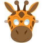 Giraffe Mask Template | Free Printable Papercraft Templates   Giraffe Mask Template Printable Free