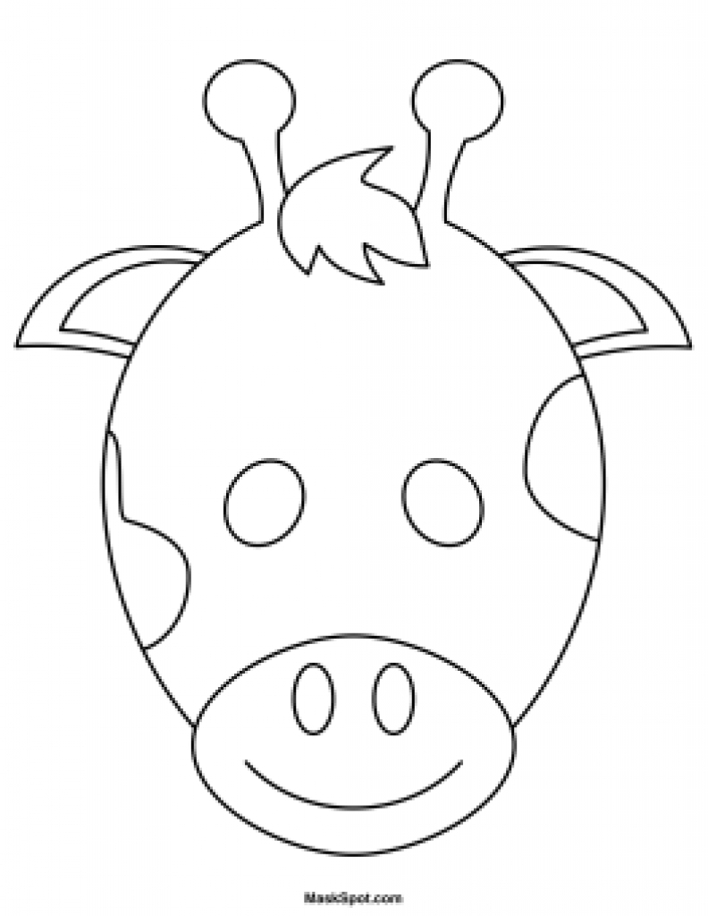 Giraffe Template To Colour - Best Image Giraffe In The Word - Giraffe Mask Template Printable Free