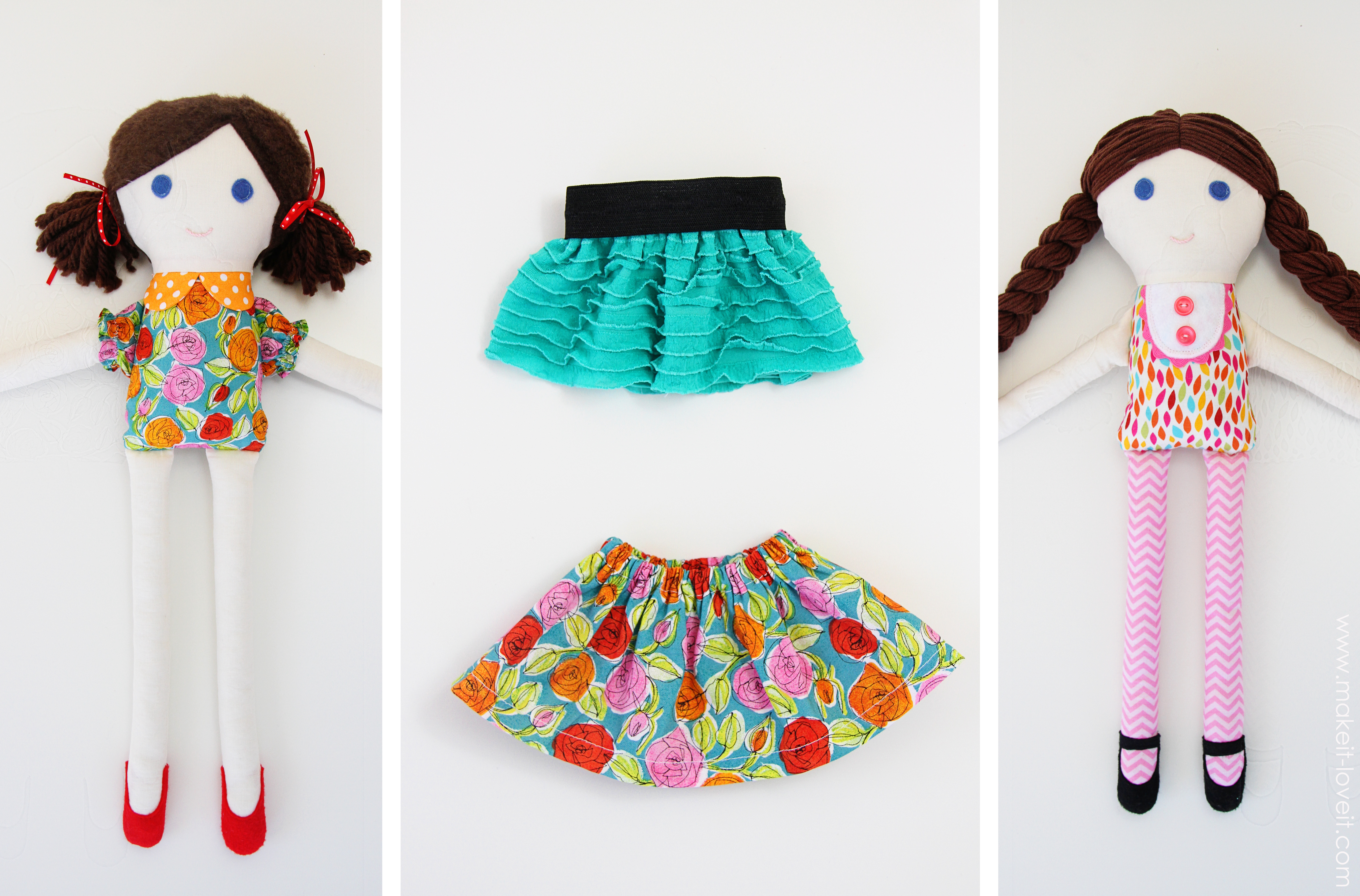 Girl & Boy Fabric Dolls (Pattern Pieces Included) – Make It And Love It - Free Printable Cloth Doll Sewing Patterns