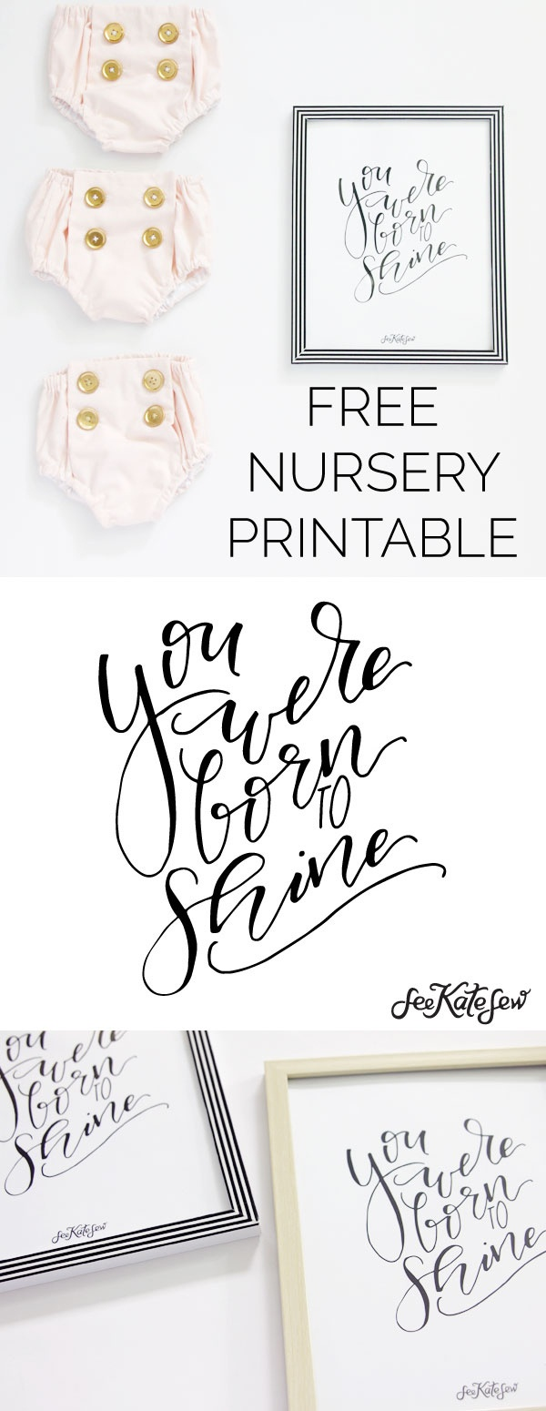 Gold Collar Girl /// You Were Born To Shine Nursery Printable - See - The Year You Were Born Printable Free