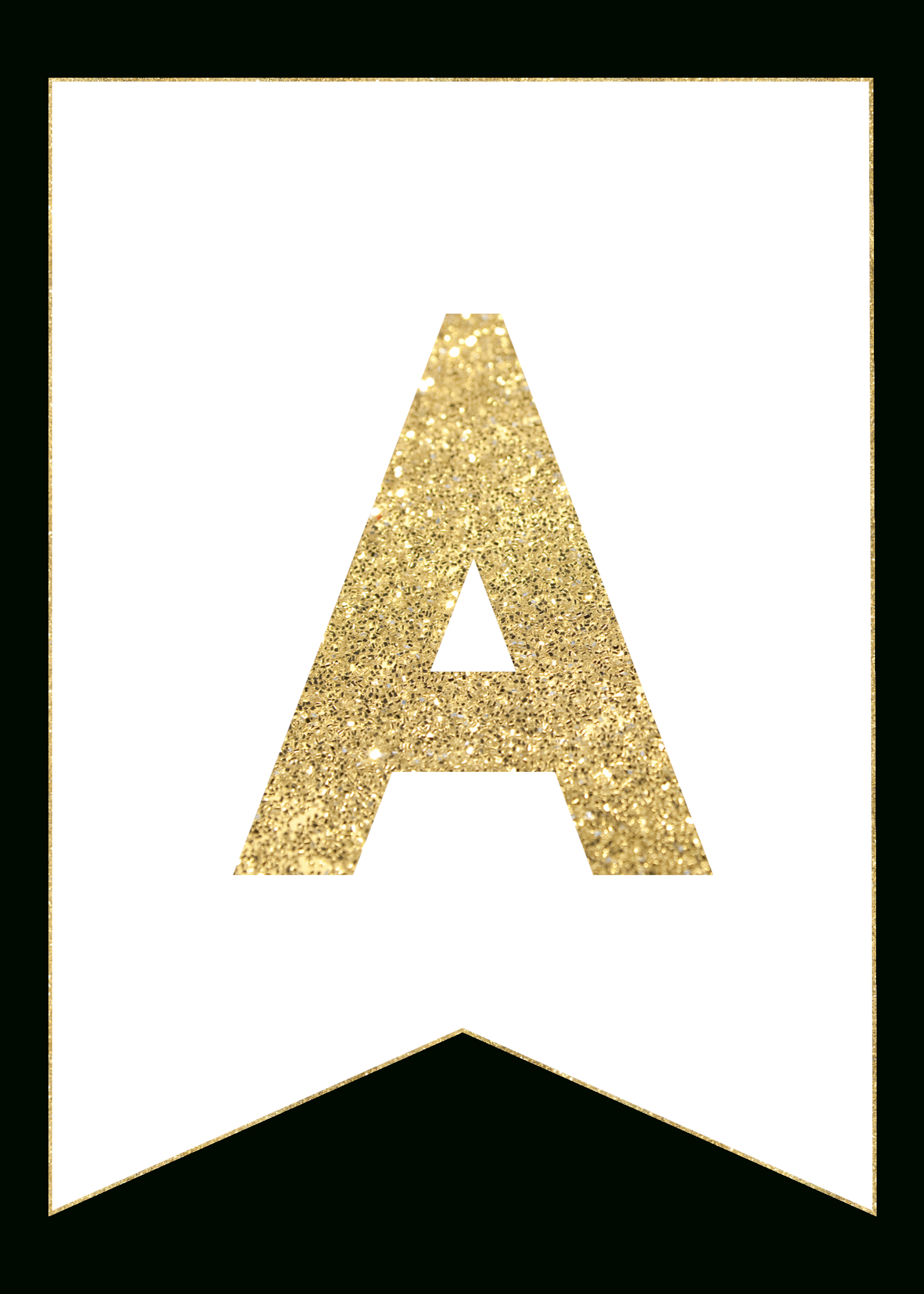 Gold Free Printable Banner Letters - Paper Trail Design - Free Printable Wedding Banner Letters