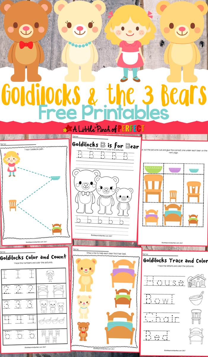 Goldilocks And The Three Bears Free Printables | Fun Printable - Free Printable Goldilocks And The Three Bears Story