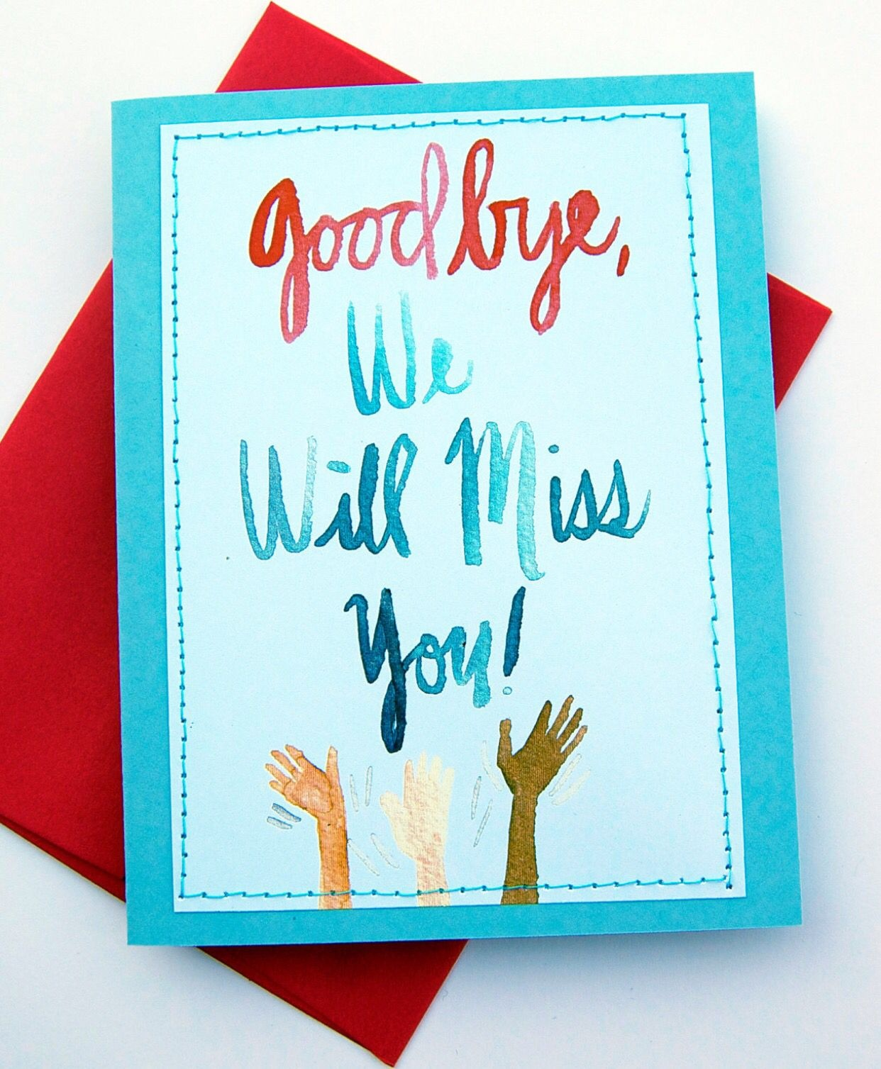 Good Bye! Will Miss You! | Student Teacher Relationship | Greeting - Free Printable We Will Miss You Greeting Cards