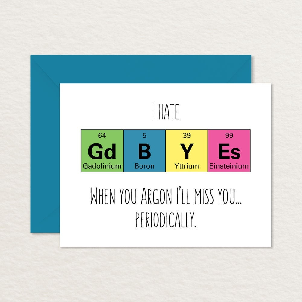 Goodbye Card Printable / Funny Goodbye Card / Nerdy Goodbye | Etsy - Free Printable Goodbye Cards