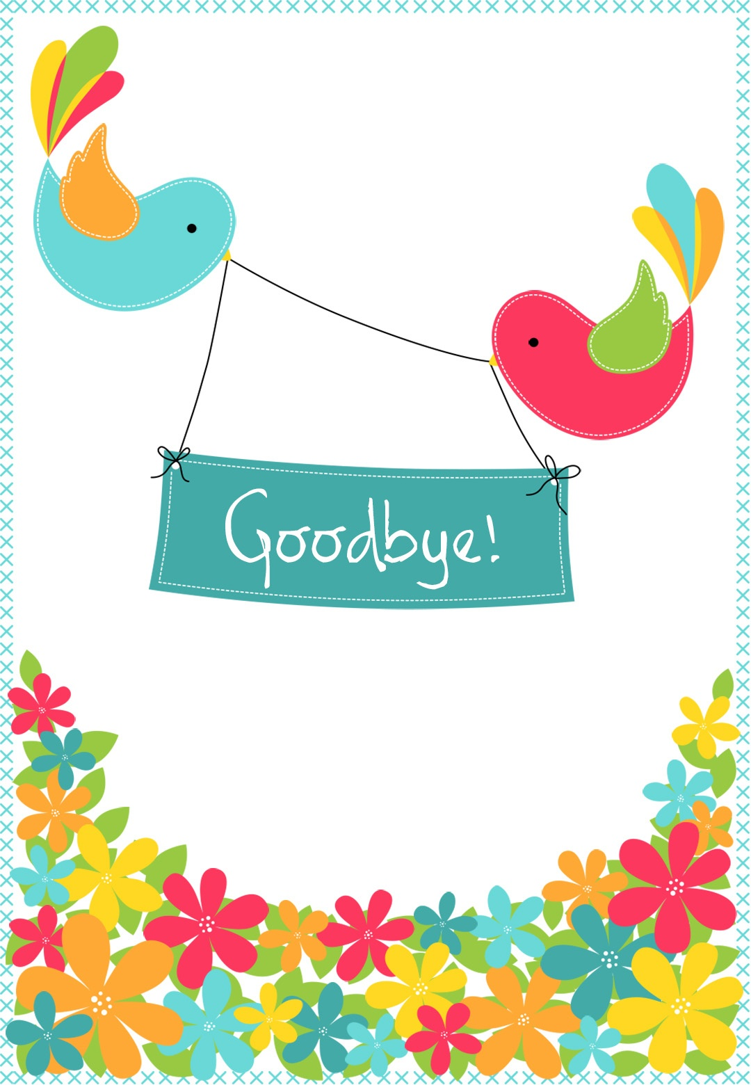 Goodbye From Your Colleagues - Good Luck Card (Free) | Greetings Island - Free Printable We Will Miss You Greeting Cards