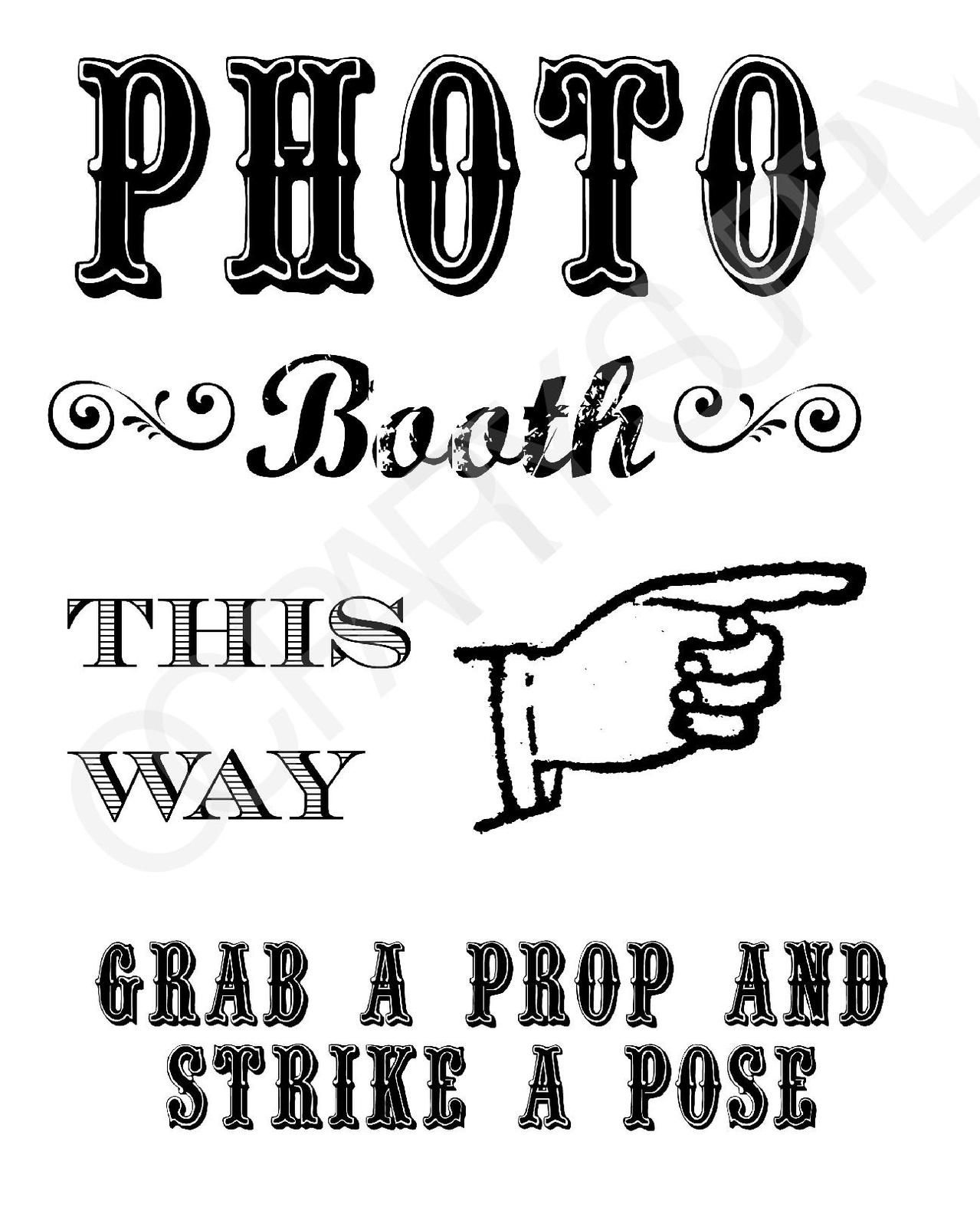 Grab A Prop & Strike A Pose! {Free} Printable Photo Booth Sign - Free Printable Photo Booth Sign Template