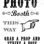 Grab A Prop & Strike A Pose! {Free} Printable Photo Booth Sign   Free Printable Smile Your On Camera Sign