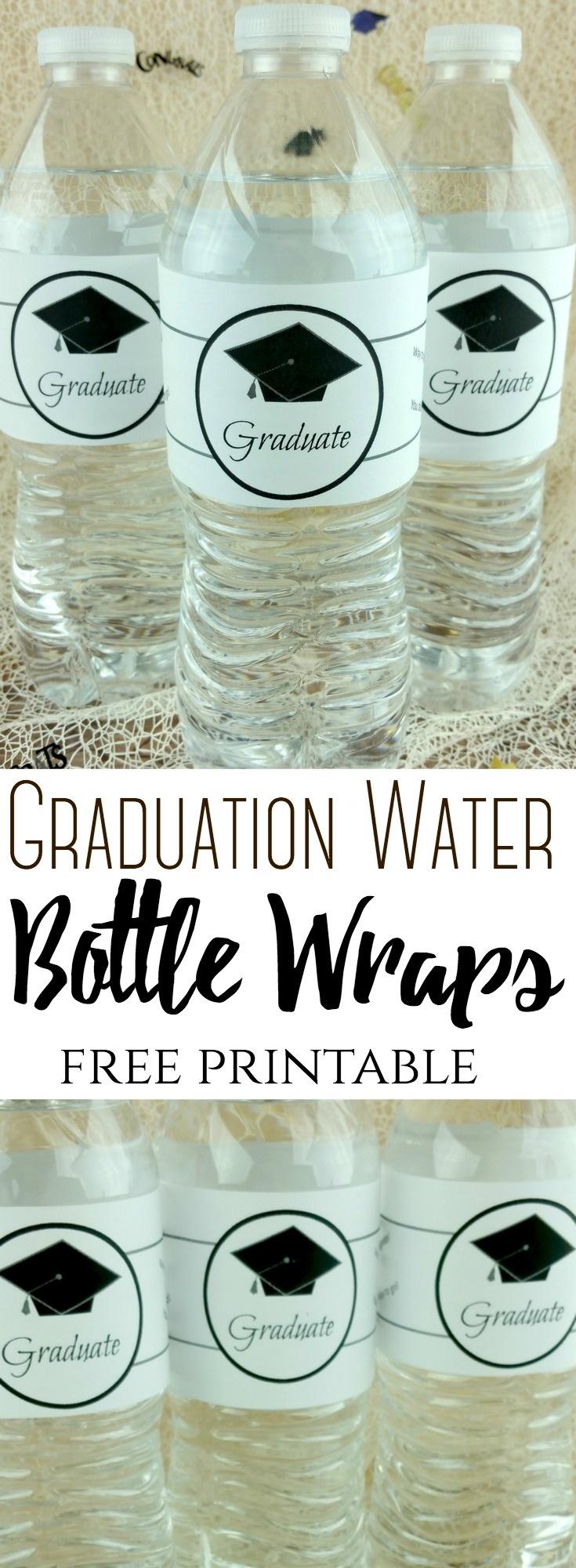 Graduation Water Bottle Wraps – The Centsable Shoppin - Free Printable Water Bottle Labels Graduation